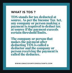 Lear more about TDS Tax Deducted At Source, Deduction, Income Tax, No Response