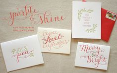 letterpress card collection 2012