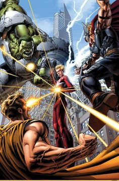 King Hyperion VS World Breaker Hulk VS Thor