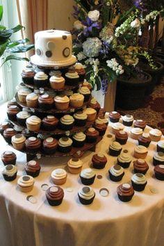 Cupcake Wedding Cakes Photos on WeddingWire