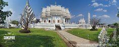 Panorama – Wat Rong Khun (White Temple), Chiang Rai, Thailand