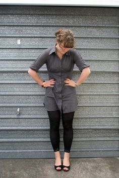 Leggings Under A Shirt Dress If It Pes The Bend