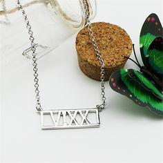 VIXX Text Logo Korean Boy Band Fashion Unique Shiny Alloy Necklace #VIXX #Text #Logo #Korean #BoyBand #Fashion #Unique #Shiny #Alloy #Necklace #KIDOLSTUFF #KPOP