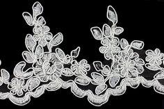 "Britex Fabrics -  3 1/2"" White Alençon Edging Lace - Alençon - Lace & Trim"