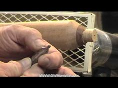 Drilling a mounting hole in a woodturning tool on the lathe - YouTube