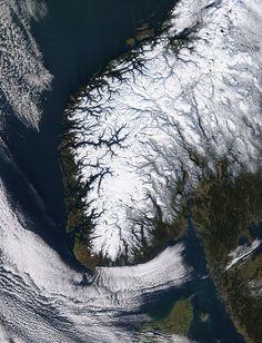 Normal winter in Norway