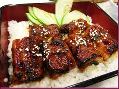 Unagi Don. A delicious meal out of a box with soft and plump pieces of sweet eel served over hot and fragrant Japanese rice. Sakae Sushi is located at UG/F The Annex.