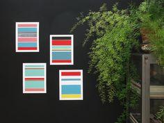 Handmade 5 Color Screenprint Purple Floater by weareoutofoffice