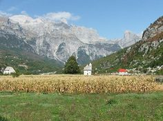 Spectacular view of the mountains of Thethi in the District of Shkoder in Albania.