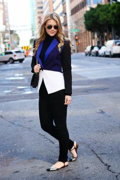 Britt+Whit| Colorblocking blazer