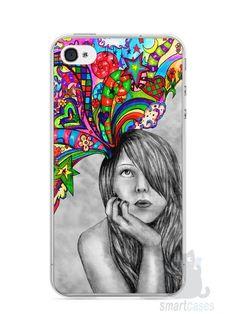 Capa Iphone 4/S Menina Sonhadora - SmartCases - Acessórios para celulares e tablets :)