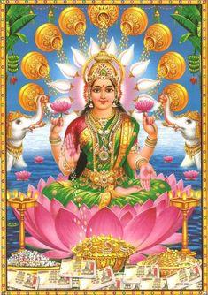 Lakshmi is the Hindu god of wealth, fortune & prosperity and also the wife of Lord Vishnu. Here is a collection of Goddess Lakshmi Images & HD wallpapers. Arte Shiva, Shiva Art, Krishna Art, Hindu Art, Shiva Parvati Images, Durga Images, Lakshmi Images, Lakshmi Photos, Saraswati Goddess