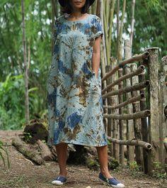 A personal favorite from my Etsy shop https://www.etsy.com/listing/546335331/kaftan-dress-shibori-dress-indigo