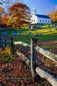 Beautiful church in autumn. Reminds me of where we lived in New England.