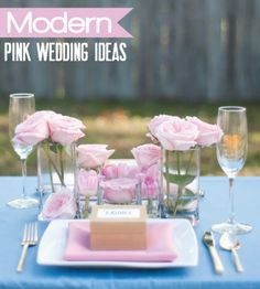 Pink Wedding Ideas {Modern}