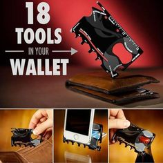 18 in 1 Multi-purpose Credit Card Tool - akiekie Hex Wrench, Edc Gear, Tools For Sale, Phone Stand, Can Opener, Color Show, Purpose, Ruler, Bottle Opener
