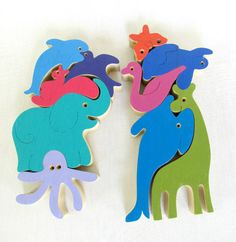 2  Wooden puzzles for Kids in a Special price by Tinocchio on Etsy, $50.00