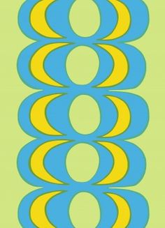 "Marimekko ""Kaivo"" fabric by Maija Isola Textile Design, Fabric Design, Design Art, Pattern Design, Graphic Design, Marimekko Fabric, Poster Drawing, Textiles, Yellow Fabric"