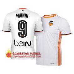 Primera camiseta Munir del Valencia 2016 2017 Camiseta Real Sociedad 9288c71e04eba