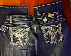 Miss Me girls Bling Rhinestone jeans 23 Inseam 31 Boot Jeans . Bling Jeans, Bling Bling, Cowgirl Jeans, Spring Hats, Flare Jeans, Jeans And Boots, Jeans Size, Womens Fashion, Size 12