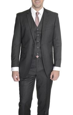 Black Slim Fit Prom Suit | Clothes | Pinterest | Men's suits ...
