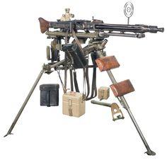 Highly Desirable Fully Automatic Class III/NFA World War II Nazi MG-42 Medium Machine Gun with Anti-Aircraft Mount, Original Optical Sight Field Tools Drum Magazine and Original Field Manual