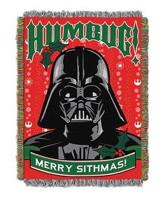 Look at this Star Wars Darth Vader 'Humbug' Tapestry Throw on #zulily today!