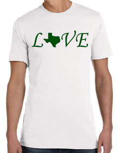 Love Texas Ringspun Cotton Adult T-shirt by SanderoDesigns on Etsy
