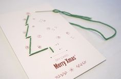DIY knitted card / Merry Xmas by manolab / via Behance
