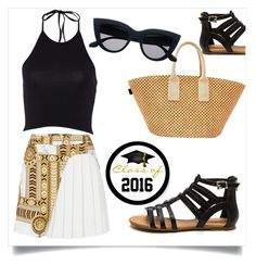 """""""2016"""" by chanlee-luv ❤ liked on Polyvore featuring Hermès and Versace"""