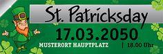 Kostenlose Banner Vorlagen für dein Fest #festefeiern #stpatricksday #fest #banner #bannerdesign #bannervorlage #bannerlayout #koboldbanner #kleeblätter #kleeblattdesign #party