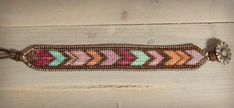 Custom Color Chevron Loom Woven Friendship por TowerCreationsbyTC