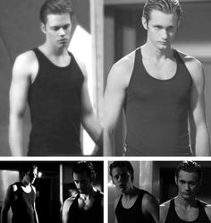Bill Skarsgard in Hemlock Grove and Alexander Skarsgard in True Blood - After I figured out who Bill was I couldn't help but picture Alexander for the rest of the show. Both are amazing and SEXY as hell.