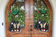 Golfer Wreaths, created for a Hospitality House in Augusta, GA during the Master's Golf Tournament