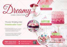 Buy Cake, Cake Shop, Birth Certificate Template, Cake Business, Sale Flyer, Fun Cupcakes, Photoshop Design, Menu Cards, Creative Cakes