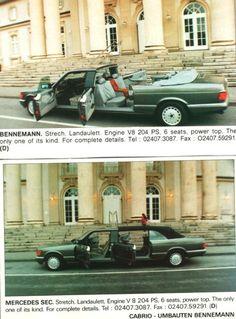 1992 Mercedes Benz SEC Class Pullman Landaulet Limousine by Bennemann Mercedes Sec, Mercedes Benz Maybach, Convertible, Donk Cars, Daimler Benz, Classy Cars, Classic Mercedes, Limousine, Luxury Cars