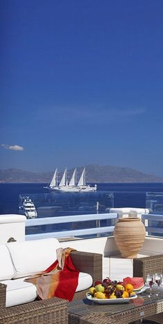 View from the Grand Beach Hotel.... Mykonos  Website: http://patelcruises.com/  Email: patelcruises.com@gmail.com