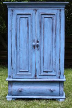 Blue French/Country Armoire