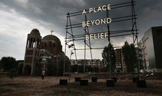 Artist Nathan Coley has installed his latest work in a patch of dusty scrubland in Kosovo's capital. The fledgling country's young leaders tell Charlotte Higgins why they don't want to give it back