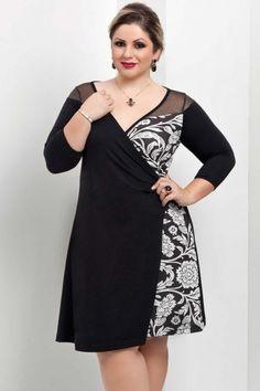 Vestido Transpasse Amalia Plus Size