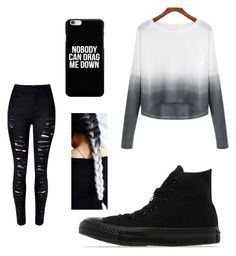 A fashion look from February 2016 featuring white sweater, skinny jeans and flat shoes. Browse and shop related looks. Jeans And Flats, White Sweaters, Pastel Goth, Women's Clothing, Converse, Fashion Looks, Skinny Jeans, Female, Clothes For Women