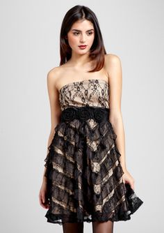 RYU Strapless Asymmetrical Ruffle Dress