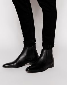 Base London Thread Leather Chelsea Boots $132