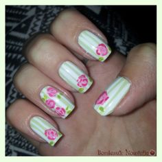 St. Valentine's Day Flowers - Nail Art   Tuto