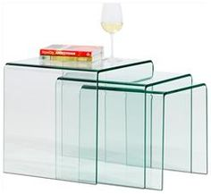 Modern coffee tables - Quality from BoConcept  Nesting tables in acrylic...i've been a huge fan of this style for some time now and need to invest in some pieces...