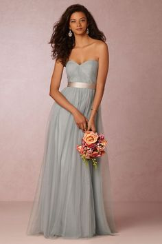 Dusty blue-grey #bridesmaid dress or alternative #weddinggown