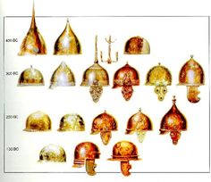 The evolution of Celtic helmets Old Warrior, Celtic Warriors, Celtic Culture, Through Time And Space, Mystery Of History, Celtic Art, Iron Age, European History, Prehistory