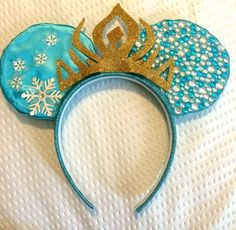 Frozen Elsa Disney Mickey & Minnie Mouse Ears by WahooKnew on Etsy