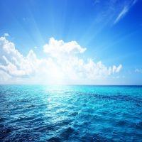 Blue Sea Sky Clouds