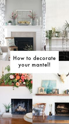 Tips and tricks for how to decorate a fireplace mantel!